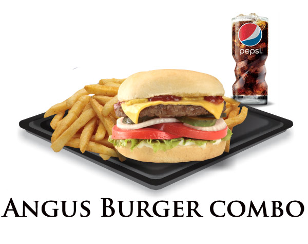 Nicks Angus Burger Combo