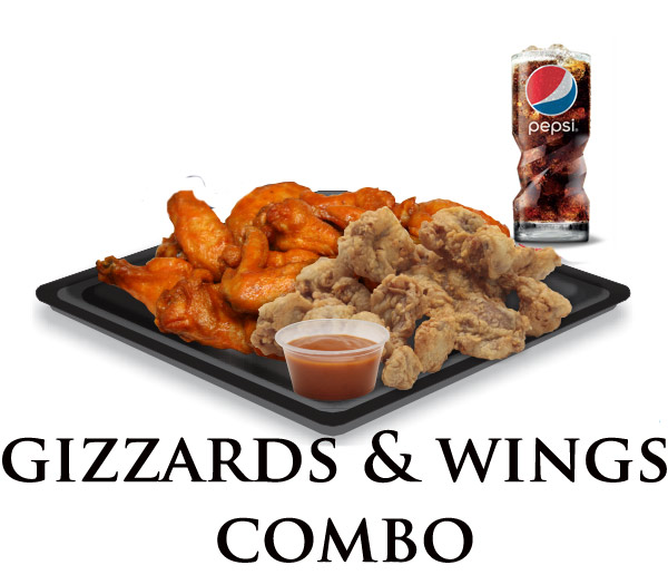 Nicks Gizzard Wing Combo