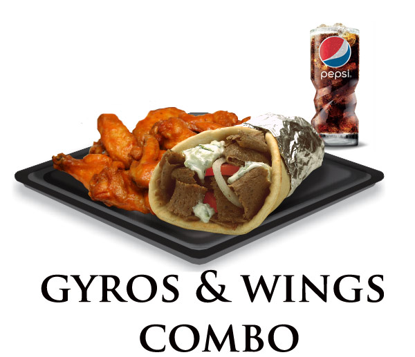 Nicks Gyro Wings Combo