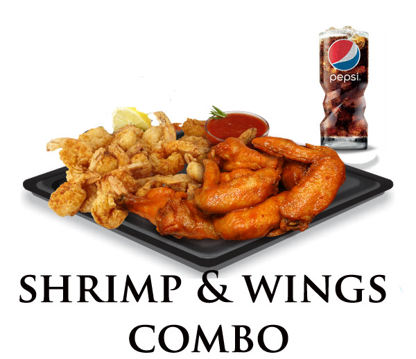Nicks Shrimp Wings Combo